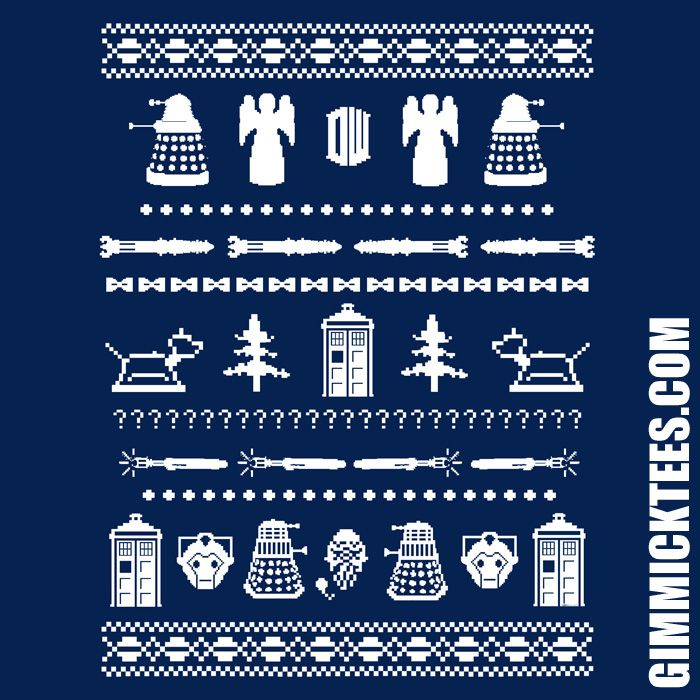 Dr Who Christmas Sweater.Doctor Who Holiday Sweater Pattern By Gimmicktees On