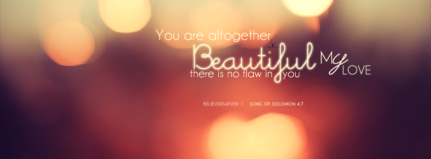 Beautiful song Christian facebook cover, Christian