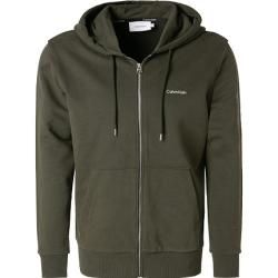 Calvin Klein Sweatshirt Jacke Herren, Baumwolle, grün Calvin