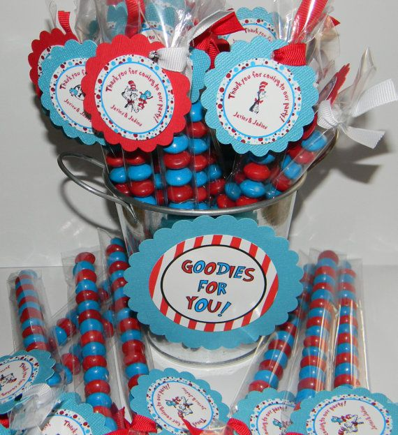 Cat In The Hat/Thing 1 And Thing 2 Favor Treats By Cupcaketionary, $19.00