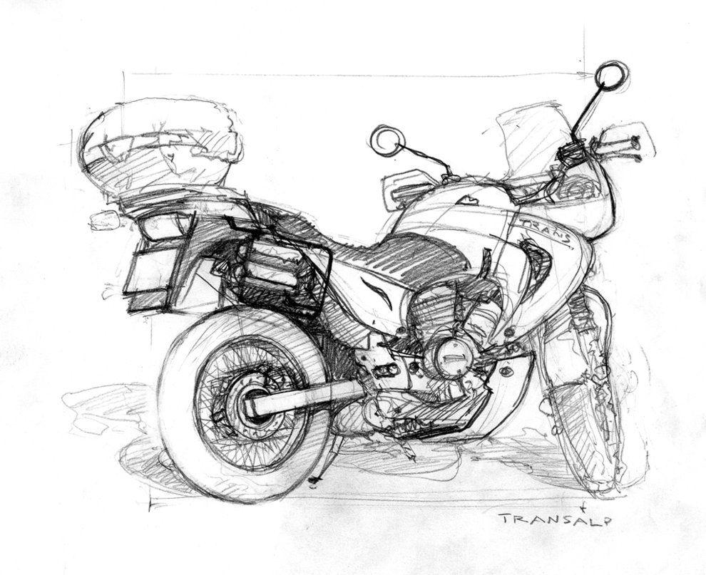 honda transalp sketch