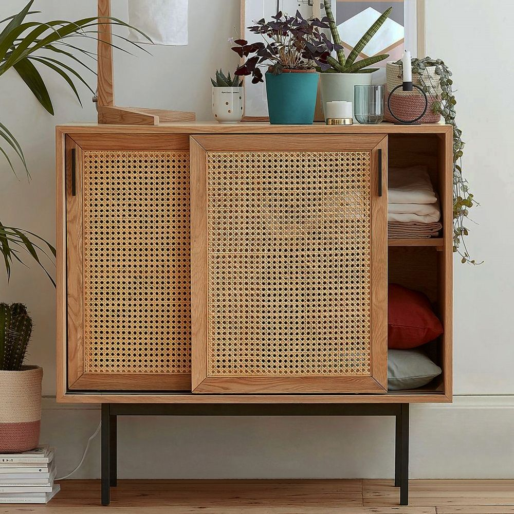 Modern Sideboard Storage Cabinet Cupboard Chest Room Display Unit Entryway Cabinet With Sliding Doors 1 Shelves With Metal Legs Sideboard Storage Cabinet Sideboard Storage Modern Sideboard