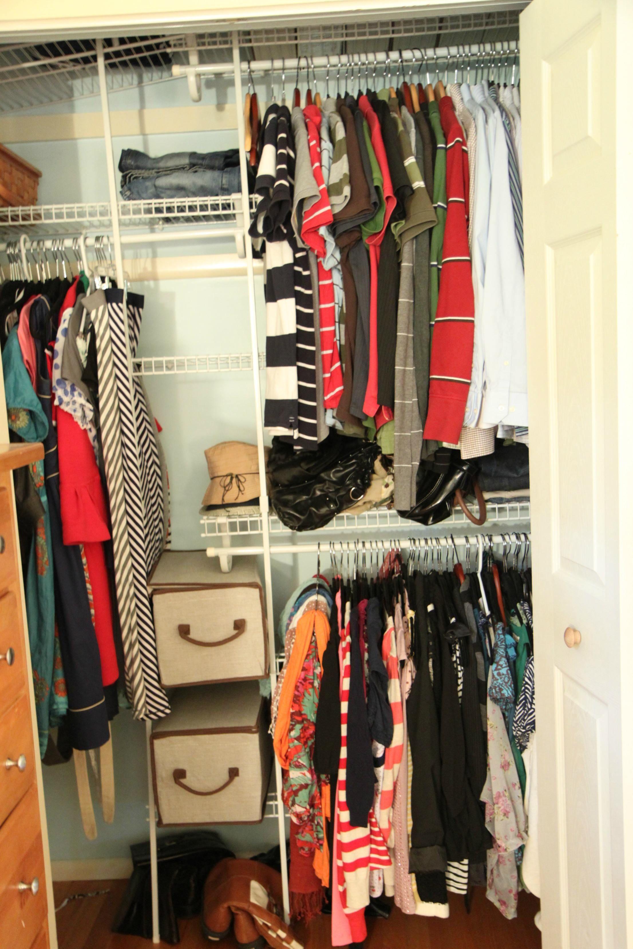 Delightful Organization For Tiny Closets