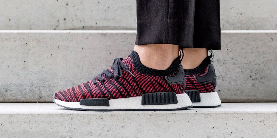 new product ca209 b01a3 On-Feet Look adidas NMD R1 STLT Core Black Red  thatdope  sneakers  luxury   dope  fashion  trending