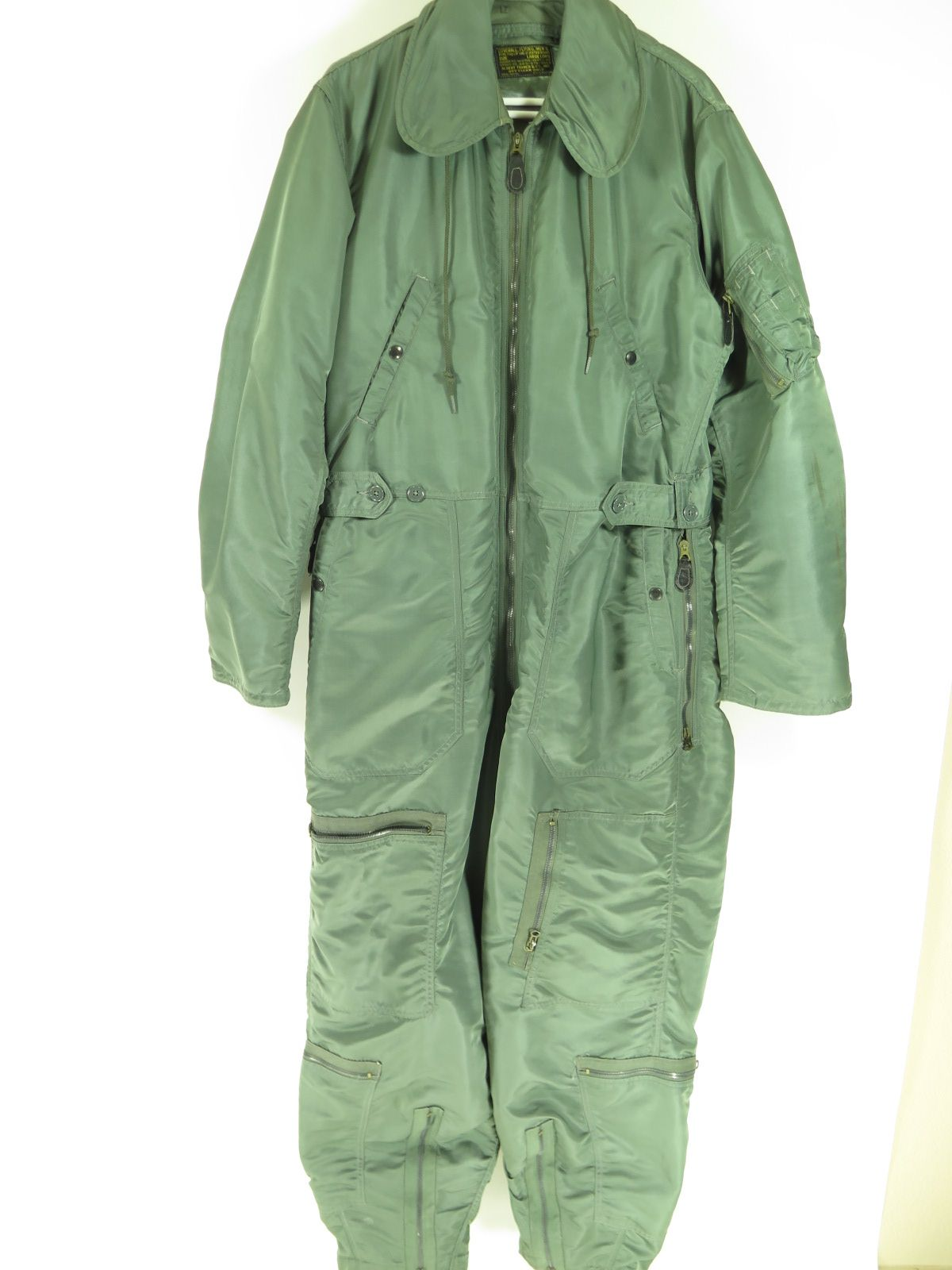vintage 70s cwu 1 p flight suit coveralls green by