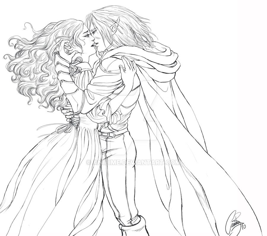 Drizzt and Catti-brie throw away all fears and finally get