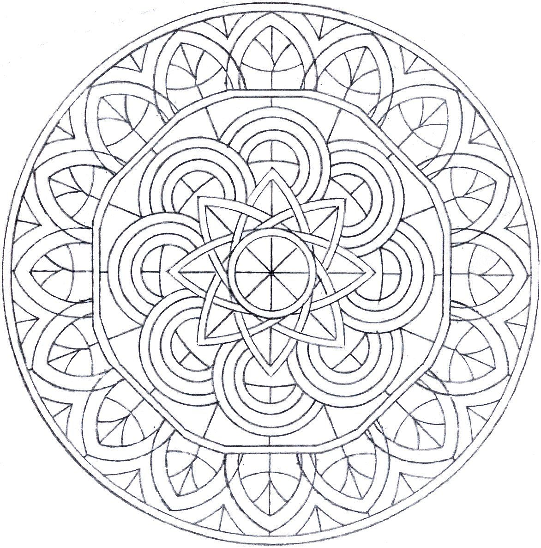 ❤~ Mandala para Colorear ~❤ | Repujado | Pinterest | Mandala para ...