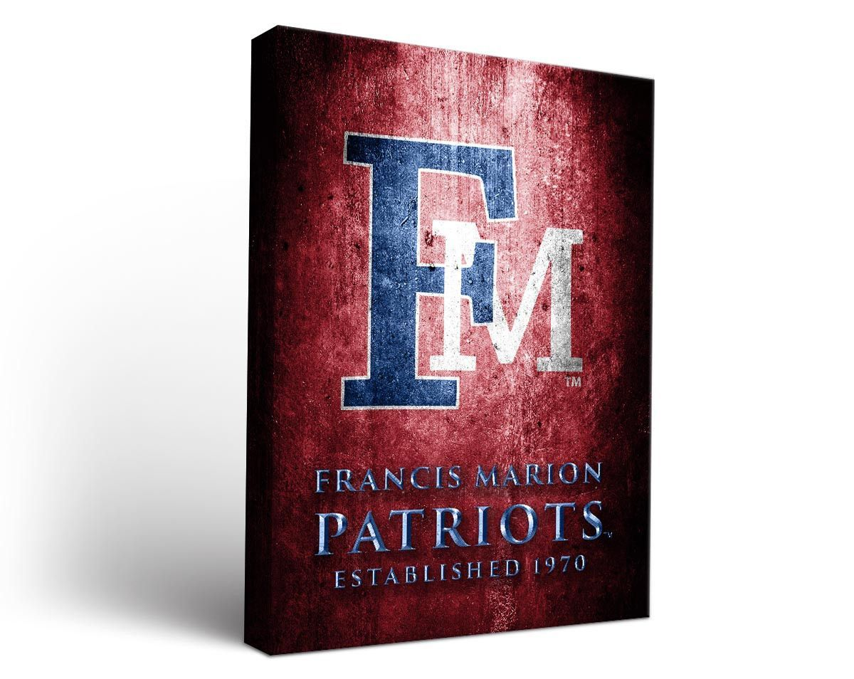 Francis Marion Patriots Aged Metal Rectangle Canvas Wall Art