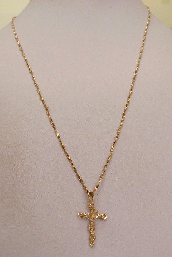 074cbb9b174ee 14k italy solid gold crucifix cross 19.75