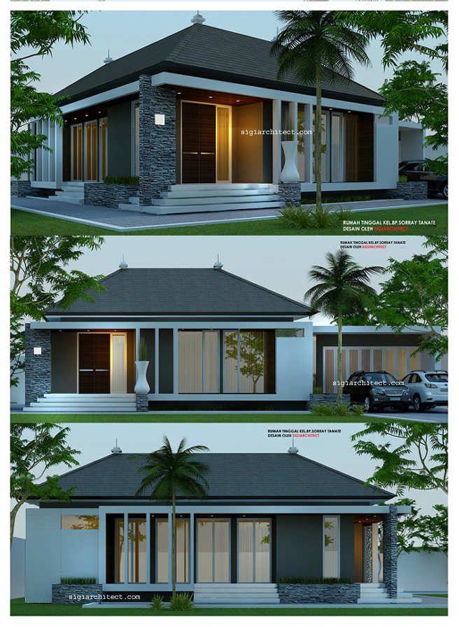 desain rumah 1 lantai minimalis modern house pinterest