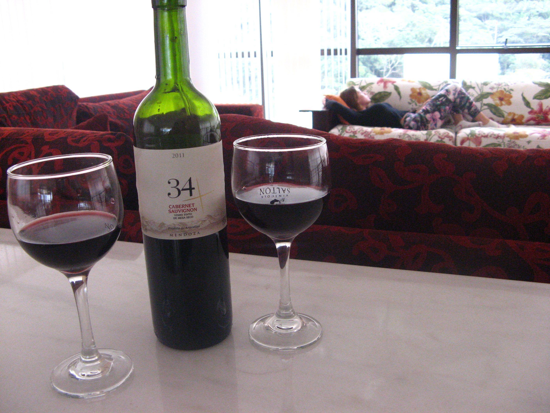 Beba um vinho e relaxe...