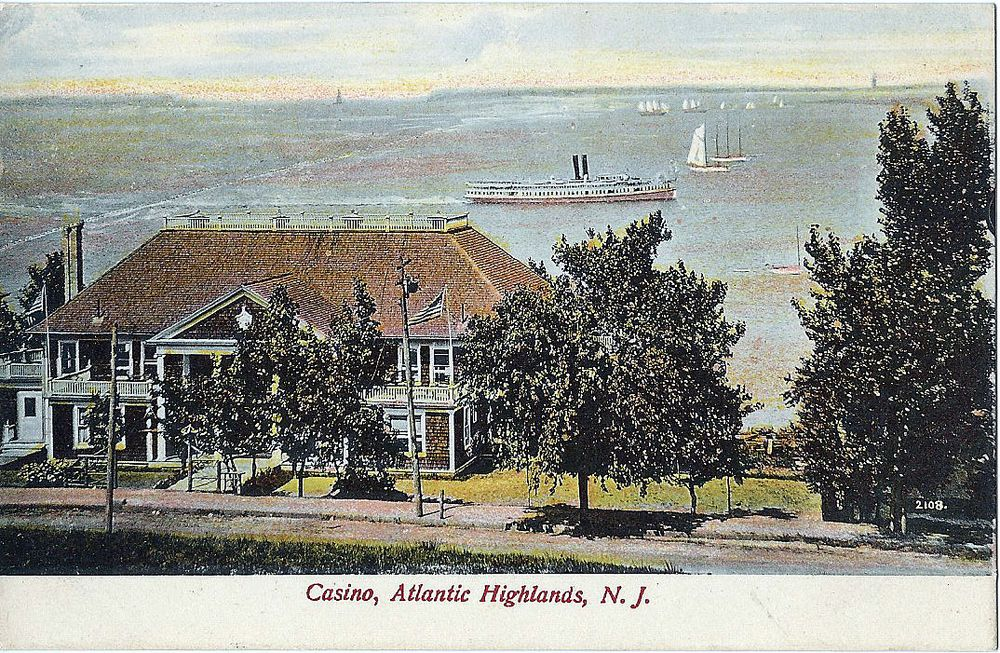 New Jersey Postcard The Hotel Atlantic Highlands Nj Monmouth County