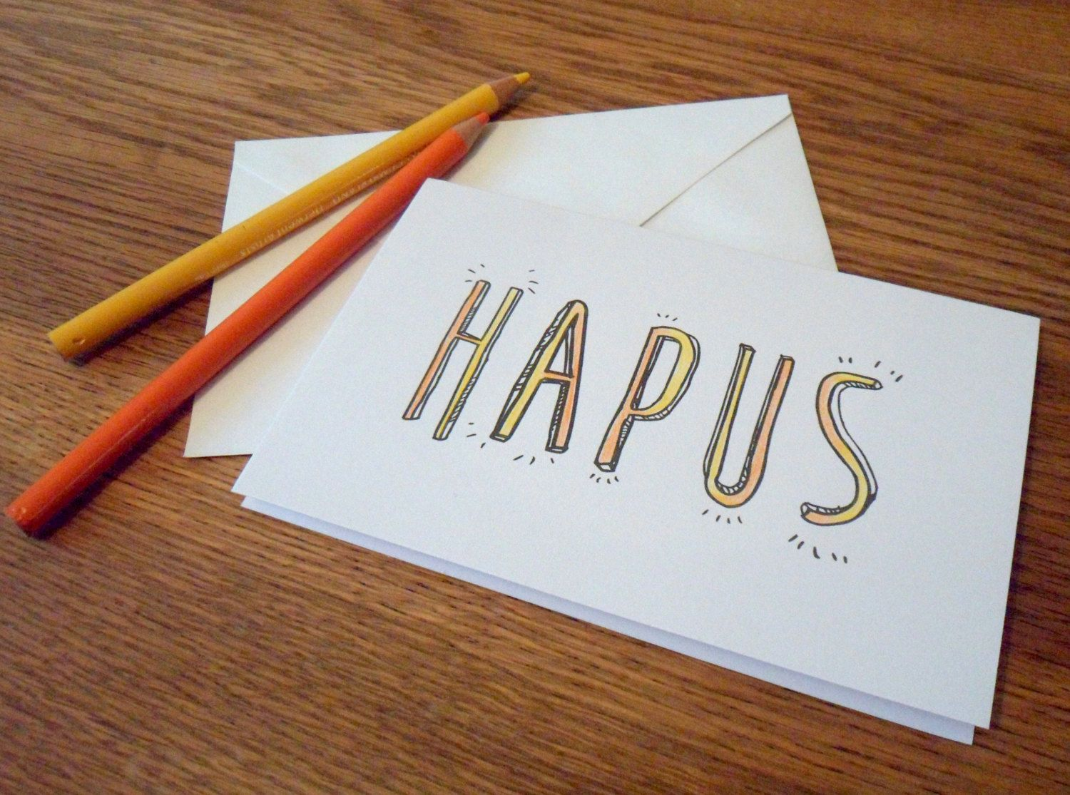 Hapus Happy Welsh Greetings Card Adult Colouring Typography Diy