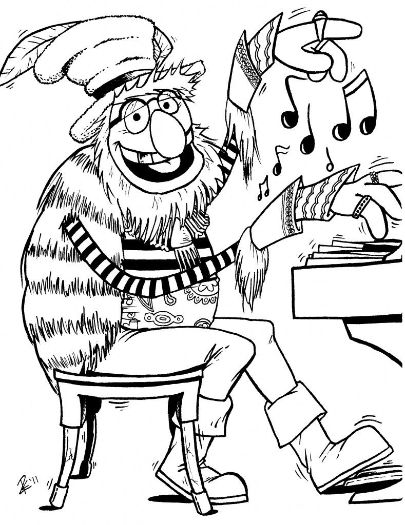 Dr Teeth Coloring pages winter, Baby coloring pages