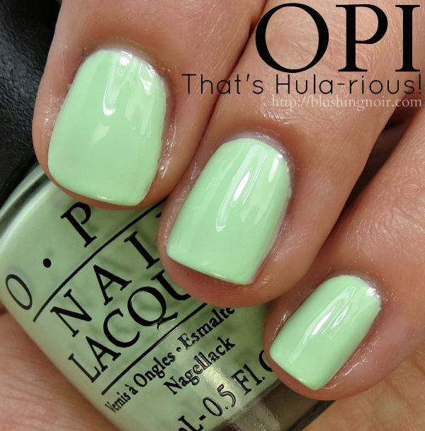 OPI That\'s Hula-rious! Nail Polish Swatches // Hawaii Collection for ...