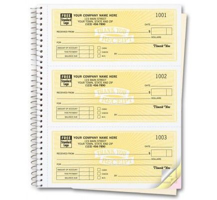 Customized Receipt Books 693 Your search for convenient and handy - free receipt book