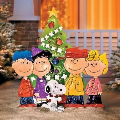 Charlie Brown Lawn Sign Outdoor Christmas Decorations Peanuts Gang Tree - Charlie Brown Lawn Sign Outdoor Christmas Decorations Peanuts Gang