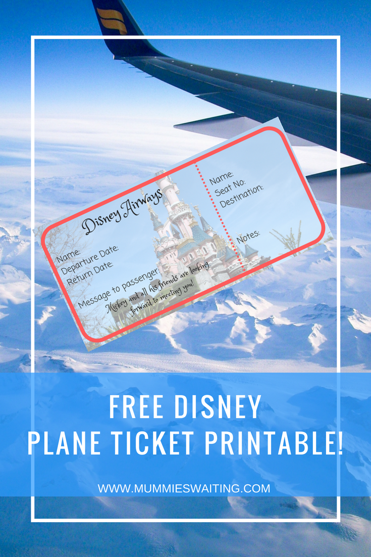 This is a picture of Ambitious Free Printable Disney Tickets