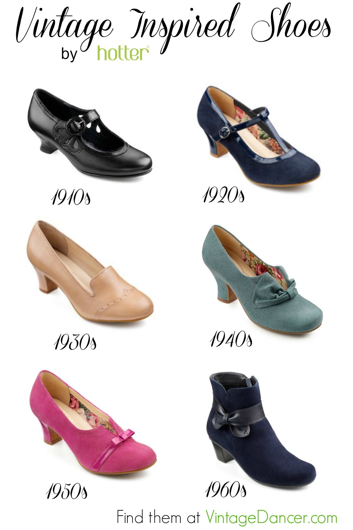 T-Strap Vintage Shoes by Hotter