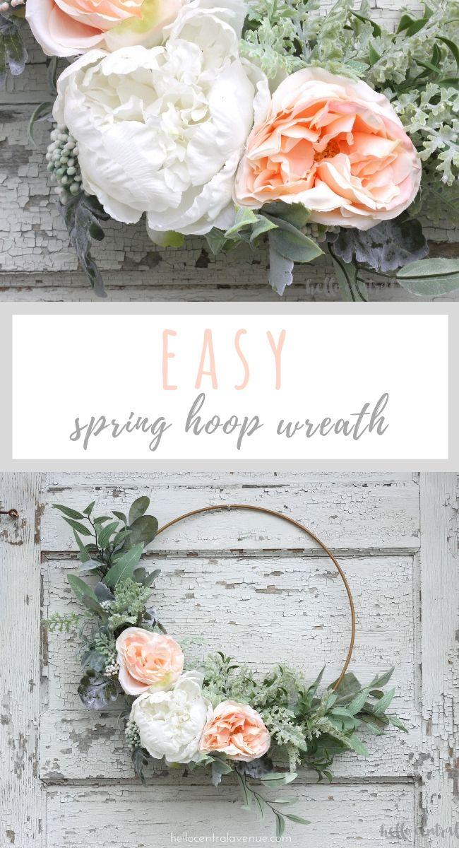 Photo of A simple DIY spring hoop wreath – Hello Central Avenue