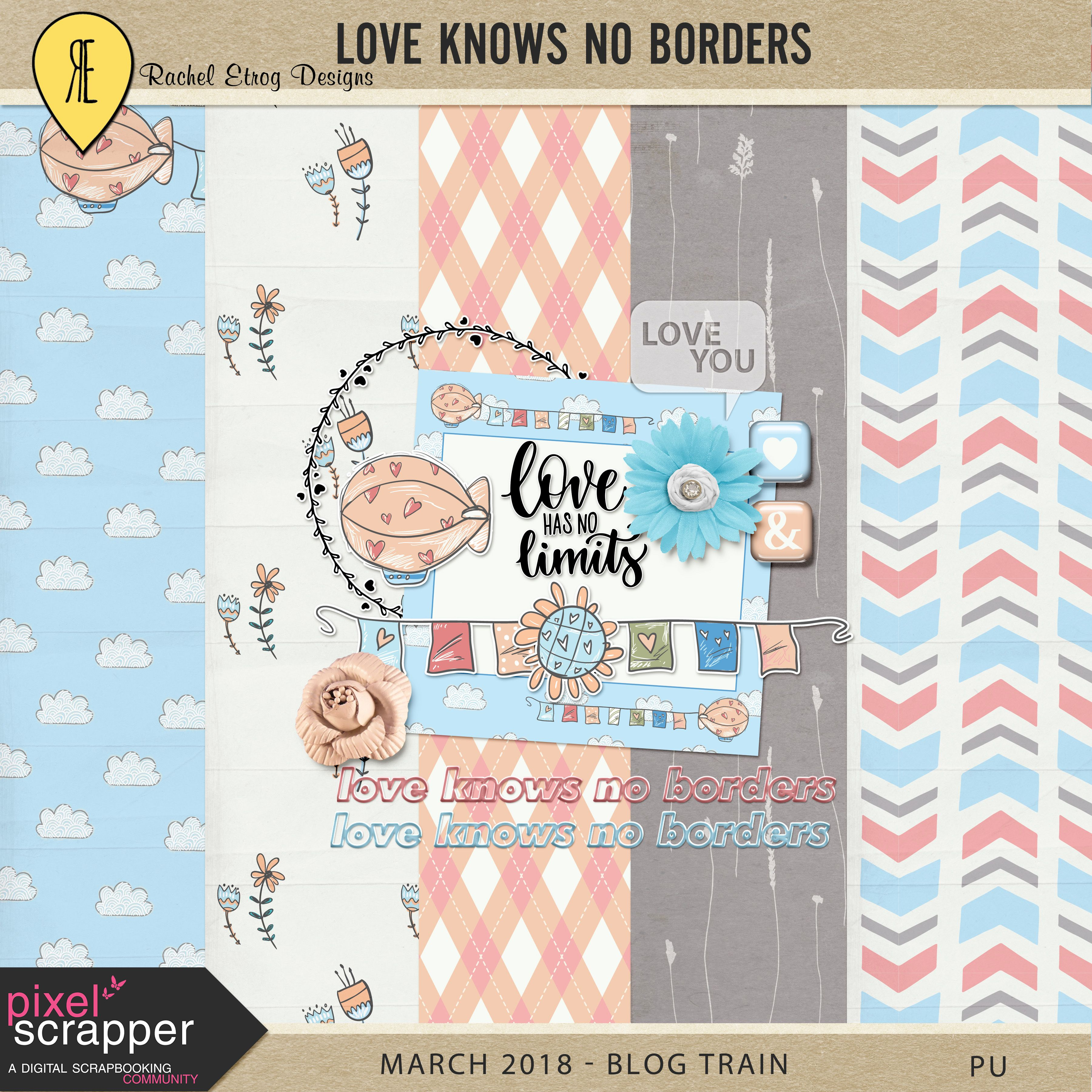 Free Printable Love Knows No Borders Mini Kit from Rachel Etrog