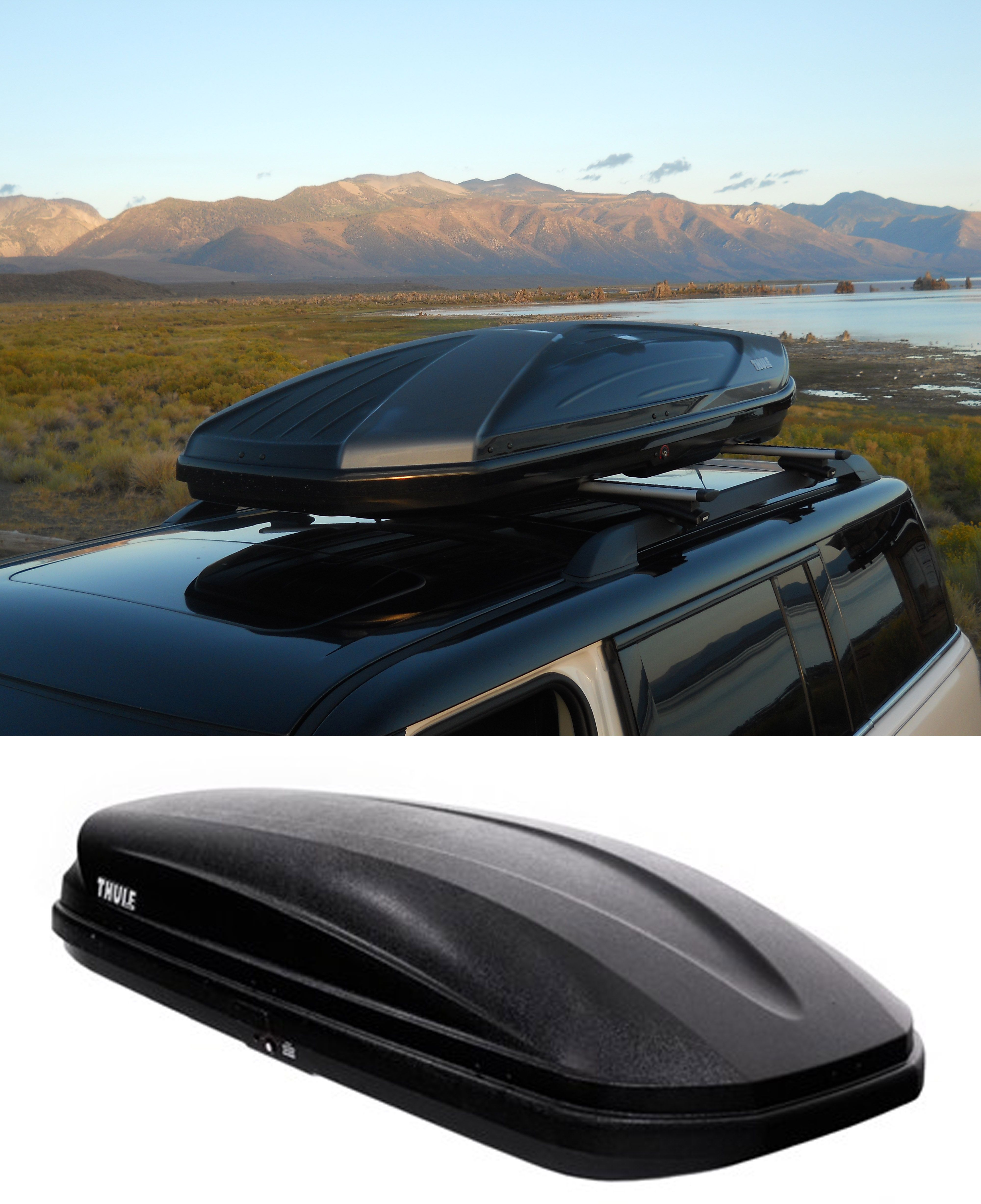 Thule Pulse Large Rooftop Cargo Box 16 Cu Ft Matte Black Thule Roof Box Th615 Roof Box Car Roof Box Thule