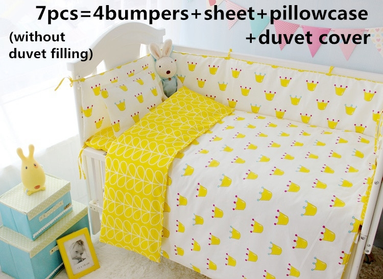 43.80$ Watch now - Promotion! 6/7PCS baby bedding set baby cot crib ...