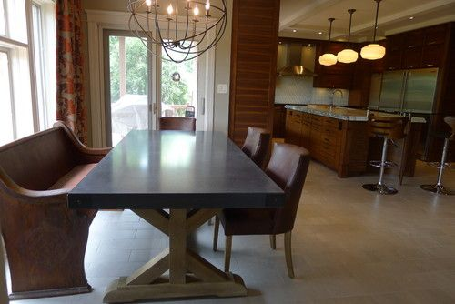 Great Mix Of The Bench And Chairscontemporary Kitchensusan Delectable Contemporary Kitchen Chairs Inspiration Design