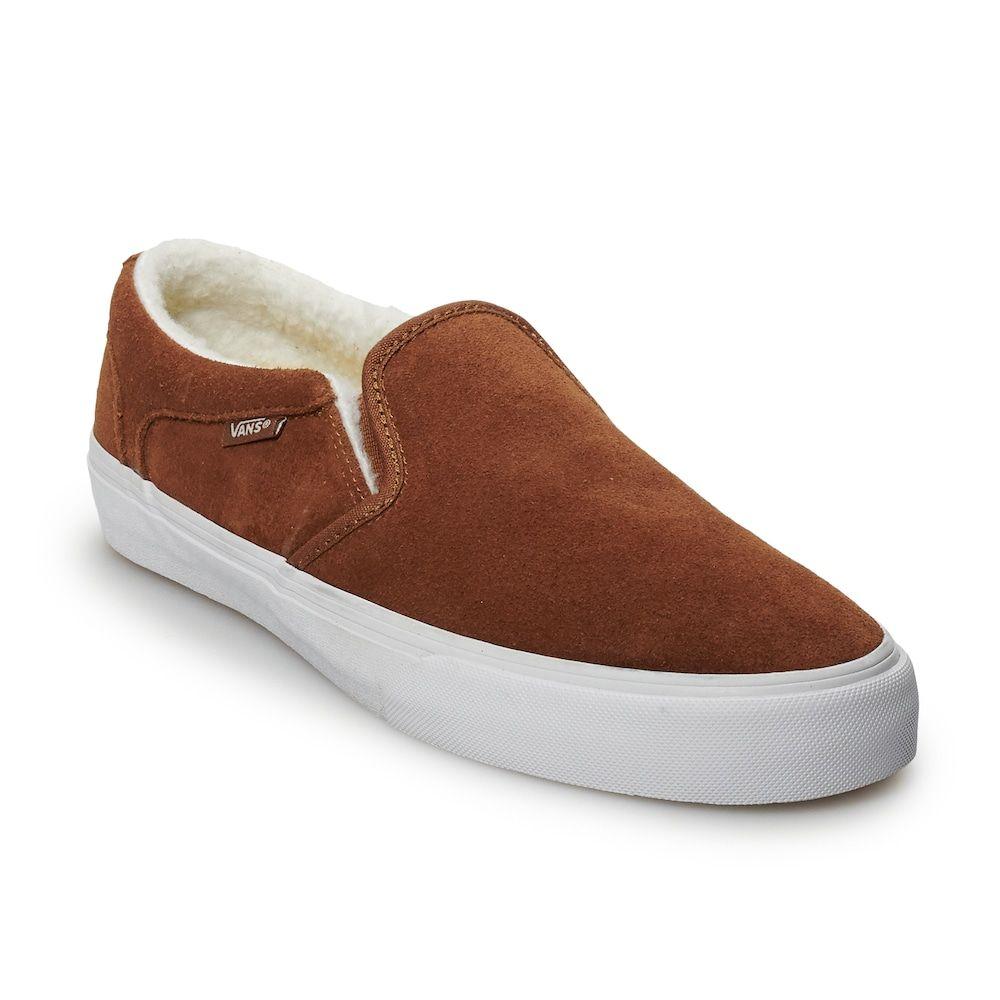 6bdcf0b76214b4 Vans Asher DX Men s Sherpa-Lined Slip-On Shoes