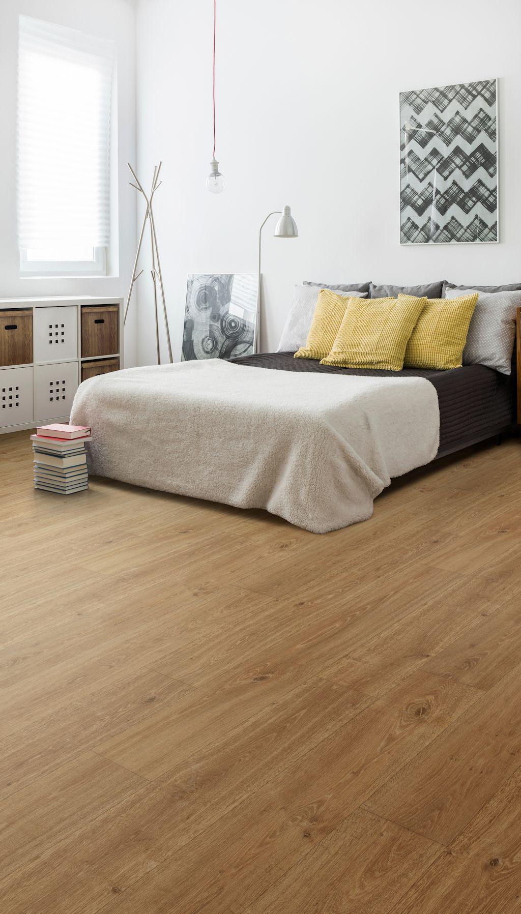 Bedroom Featuring Secura Pur Luxury Vinyl Sheet Flooring In Honey