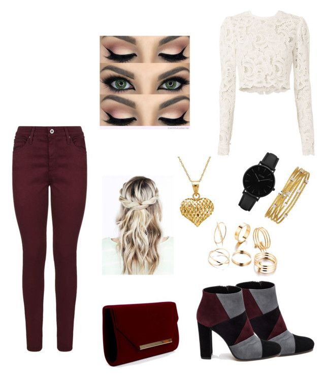 """""""Wine Red"""" by fashsionqueen on Polyvore featuring Roberto Festa, AG Adriano Goldschmied, A.L.C., CLUSE, Alor and Lord & Taylor"""