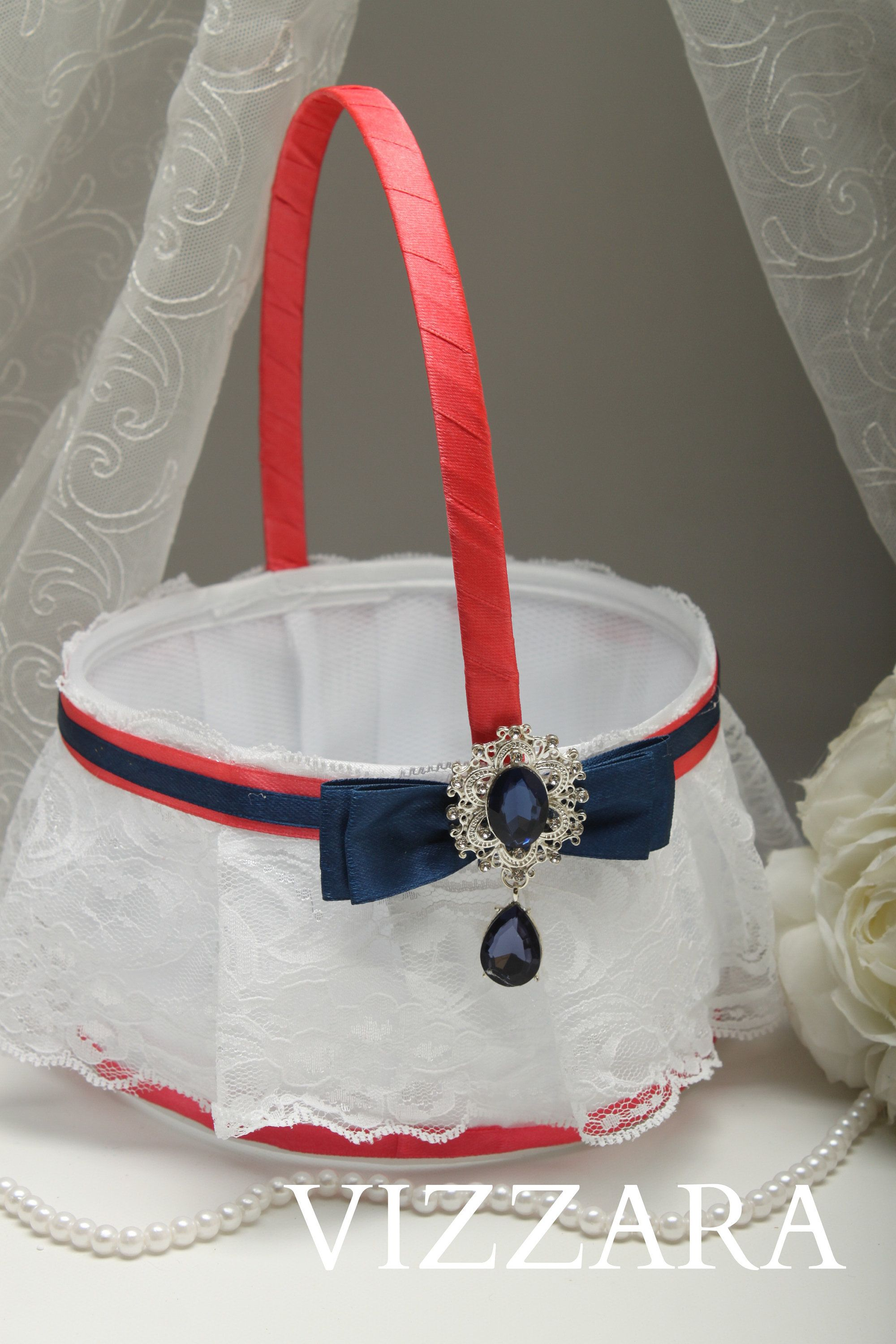 Flower Girl Baskets Coral Wedding Cheap Flower Girl Baskets Navy