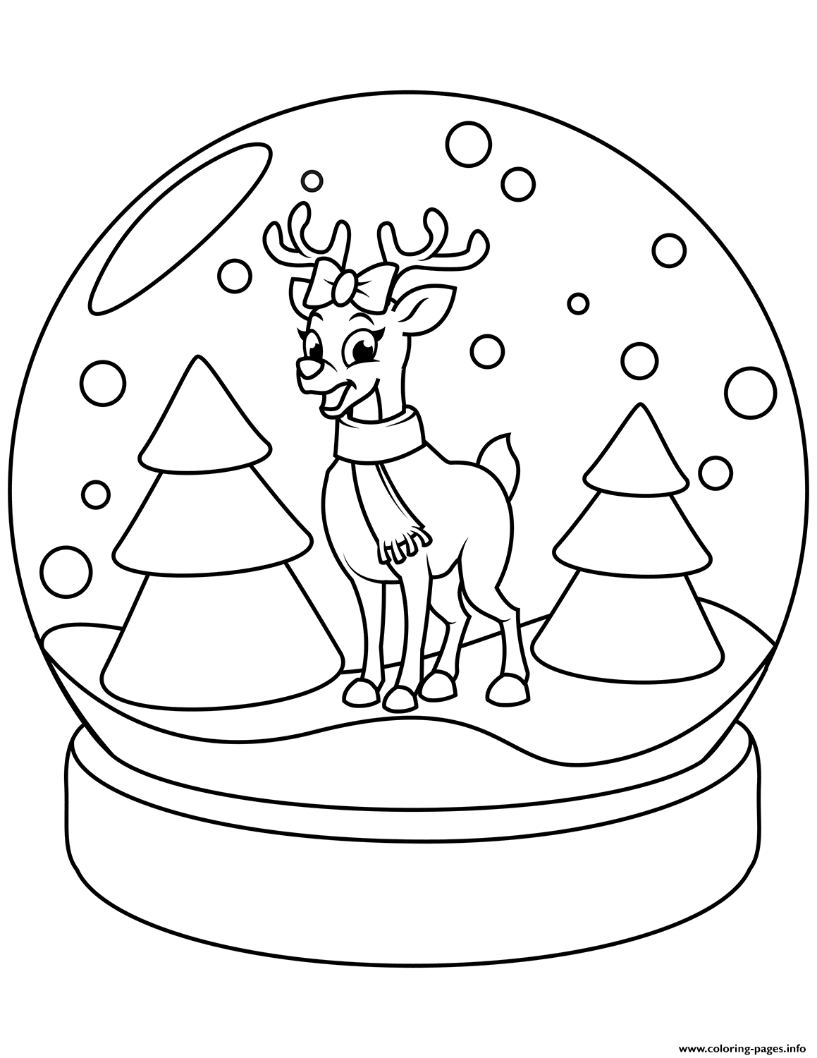Pin By Nicole Allen On Sub Worksheets Rudolph Coloring Pages Christmas Snow Globes Printable Christmas Coloring Pages