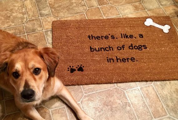 Delightful Custom Door Mat Dog Door Mat Door Mats With By ToniAnnsBellaArte