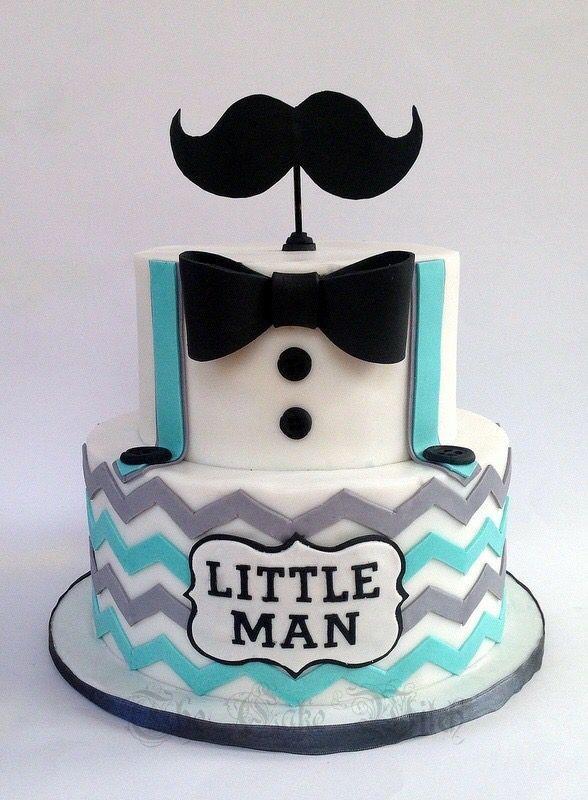Little Man Moustache Cake Birthday Child Bathe Cake Desserts - Formal birthday cakes