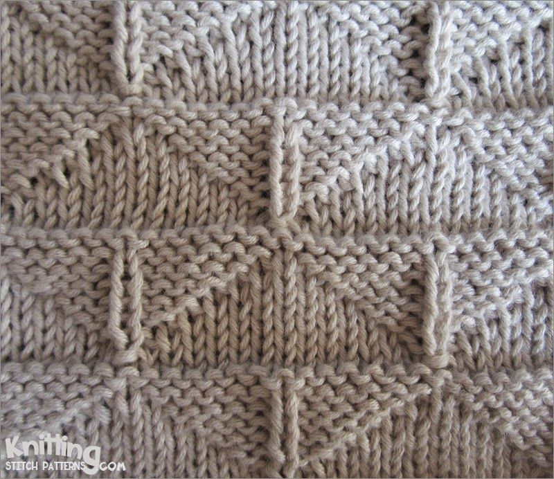 Knit Purl Afghan Patterns : Thunderbird stitch Pattern uses only knit and purl ...