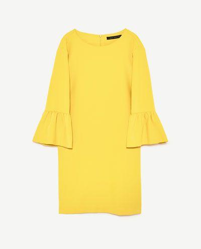 DRESS WITH FRILLED SLEEVES-DRESSES-WOMAN   ZARA United Kingdom
