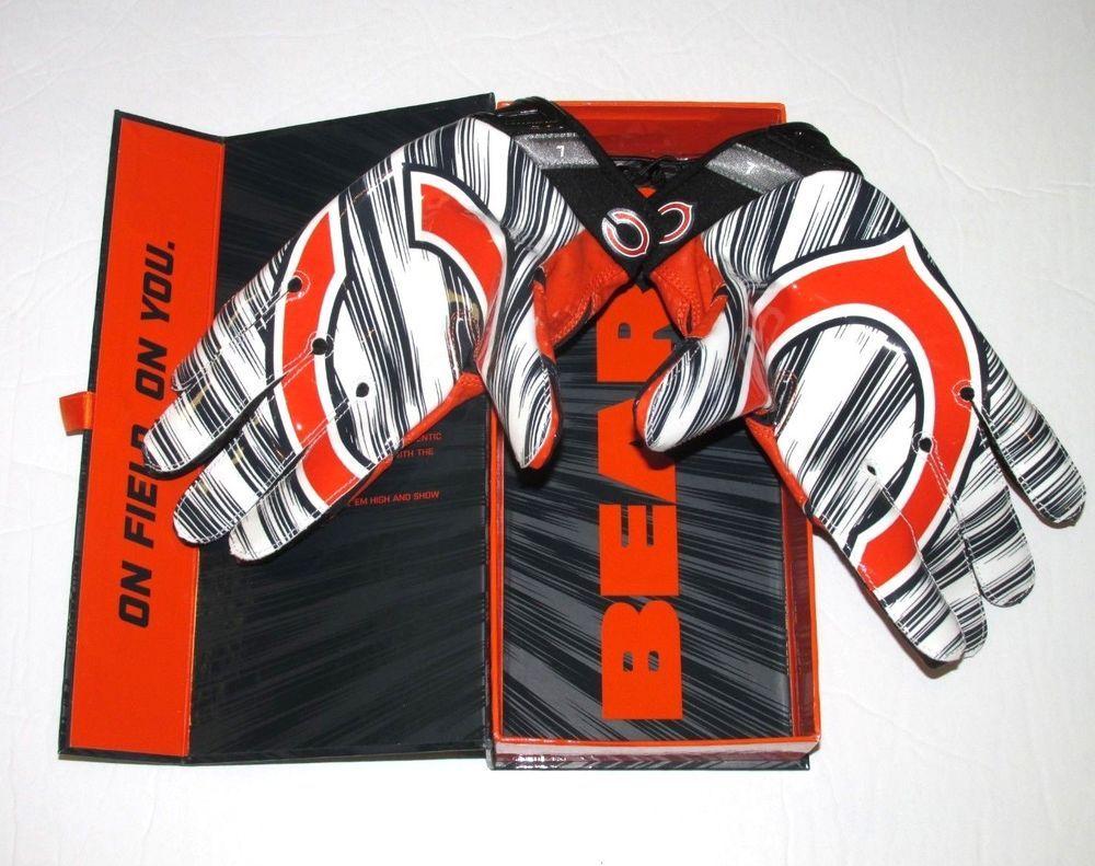 Nike chicago bears vapor jet 30 football receiver gloves