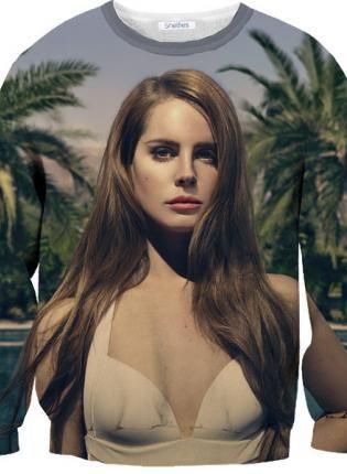 Lana Del Rey Sweater,  Sweater, lana del rey  multi color  long, Casual  #sweater #longsleeve #sloth #crewneck #lanadelrey #multicolor