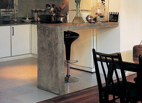 cocina de cemento buscar con google cocina pinterest On desayunadores de concreto