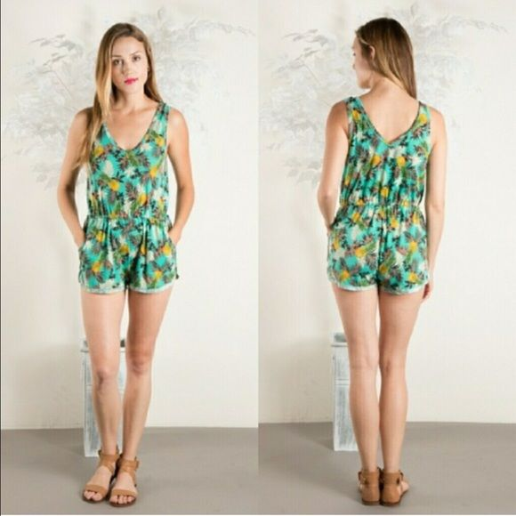 ⭐️COMING SOON⭐️Mint Pineapple romper Pineapples are in this summer! Get this adorable mint pineapple romper. Coming soon, like this listing if interested and I will tag you when they are in  Lexi's Boutique  Pants Jumpsuits & Rompers