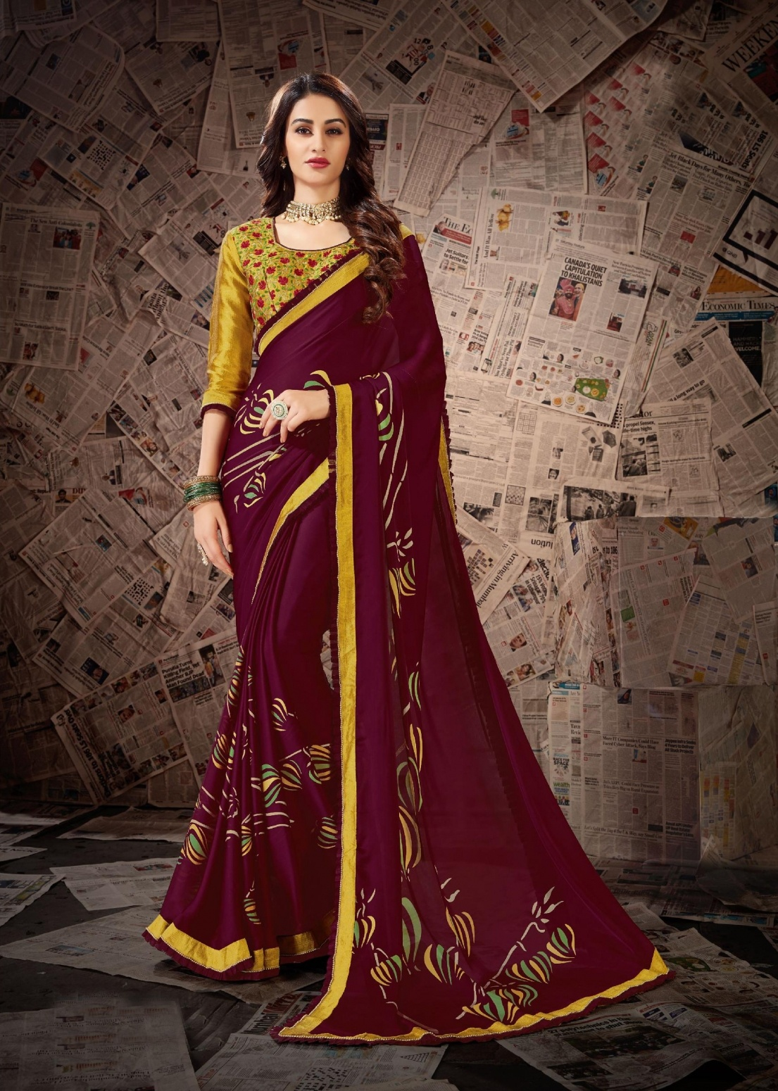 c2ef4b2af9 Buy Women's Party Wear Traditional Embroidery Work Saree With Piece Online  at Low prices in India on Winsant, India fastest online shopping website.