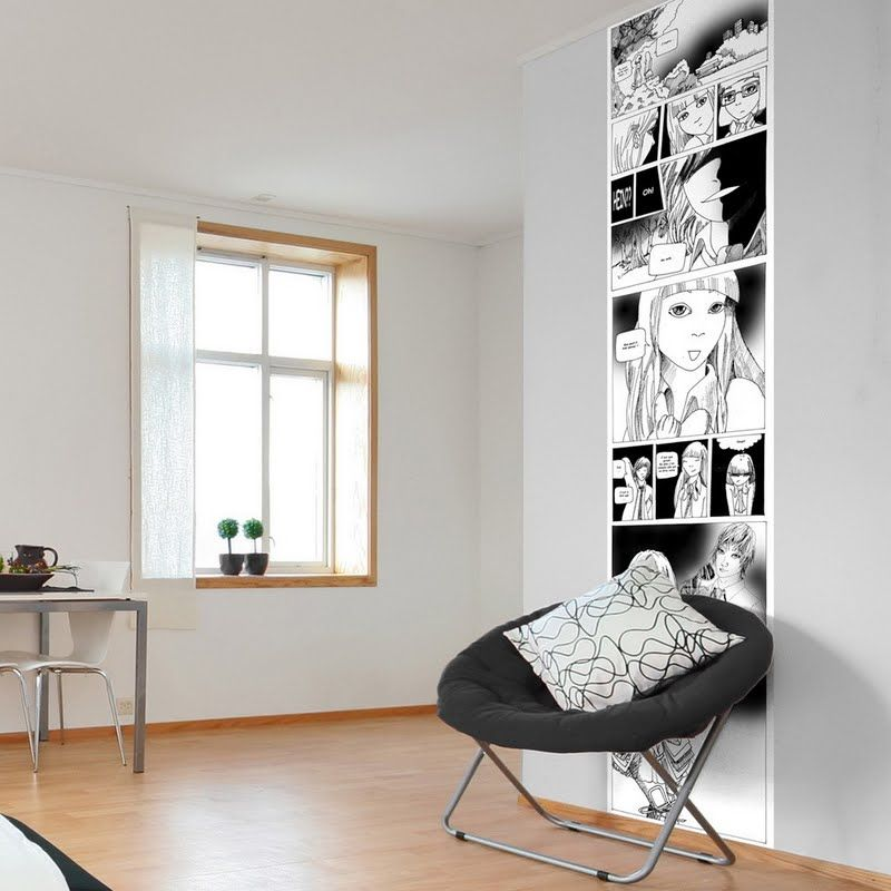 Manga Vertical Scroll     This Is A Good Idea To Put In A White/black Room