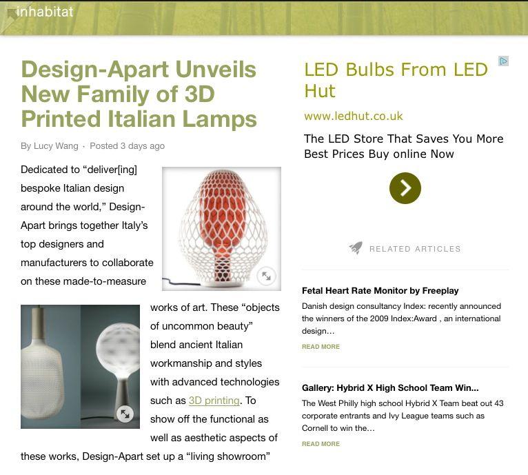 Fantastic online design magazine with a green conscience http://inhabitat.com/art/