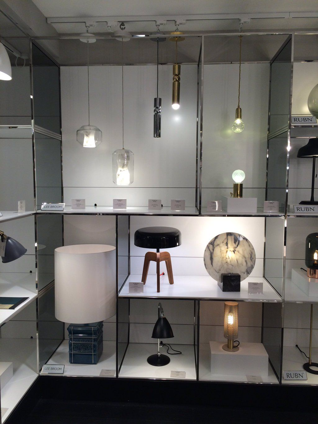 Contemporary lighting ideas - Our Lights Looking Splendid In The New Contemporary Lighting Department In Harrods Leebroom Design