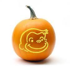 Curious George Pumpkin Fall Pumpkin Carving Pumpkin Halloween