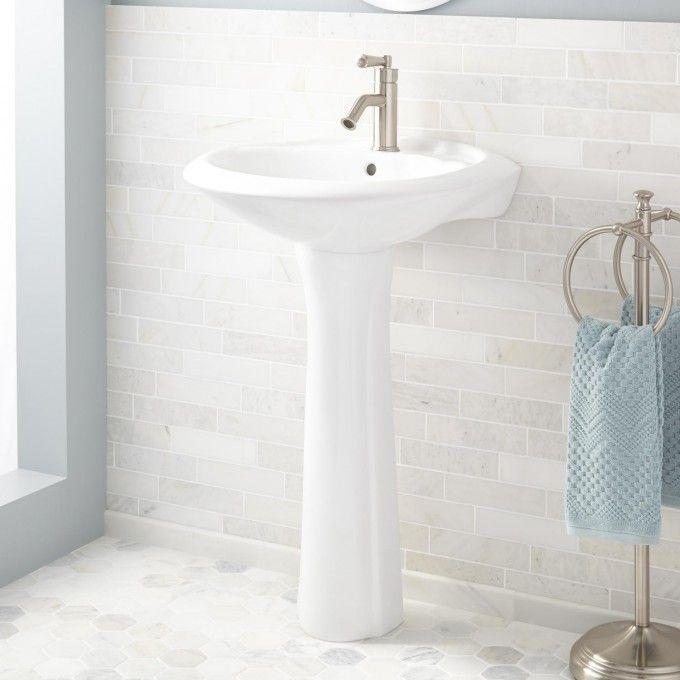 Column Nickel Plated Copper Pedestal Sink Pedestal Sink Modern Pedestal Sink Sink