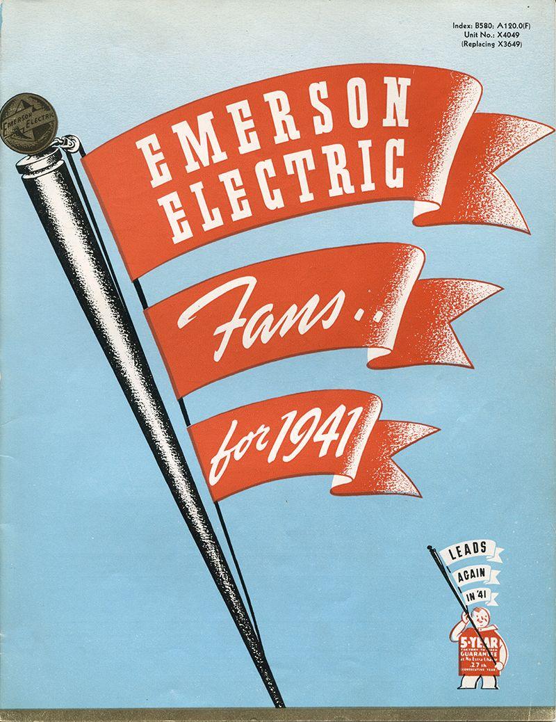 1941 emerson ceiling fans catalog emerson fans history pinterest 1941 emerson ceiling fans catalog aloadofball Image collections