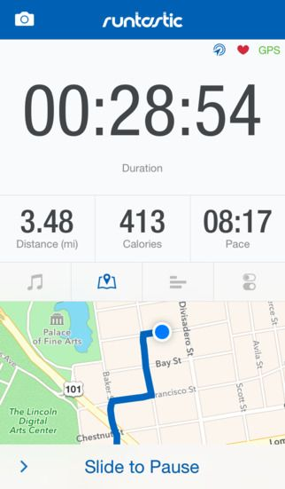 Runtastic app can track all your sports activities with GPS or add them manually and share them on social media
