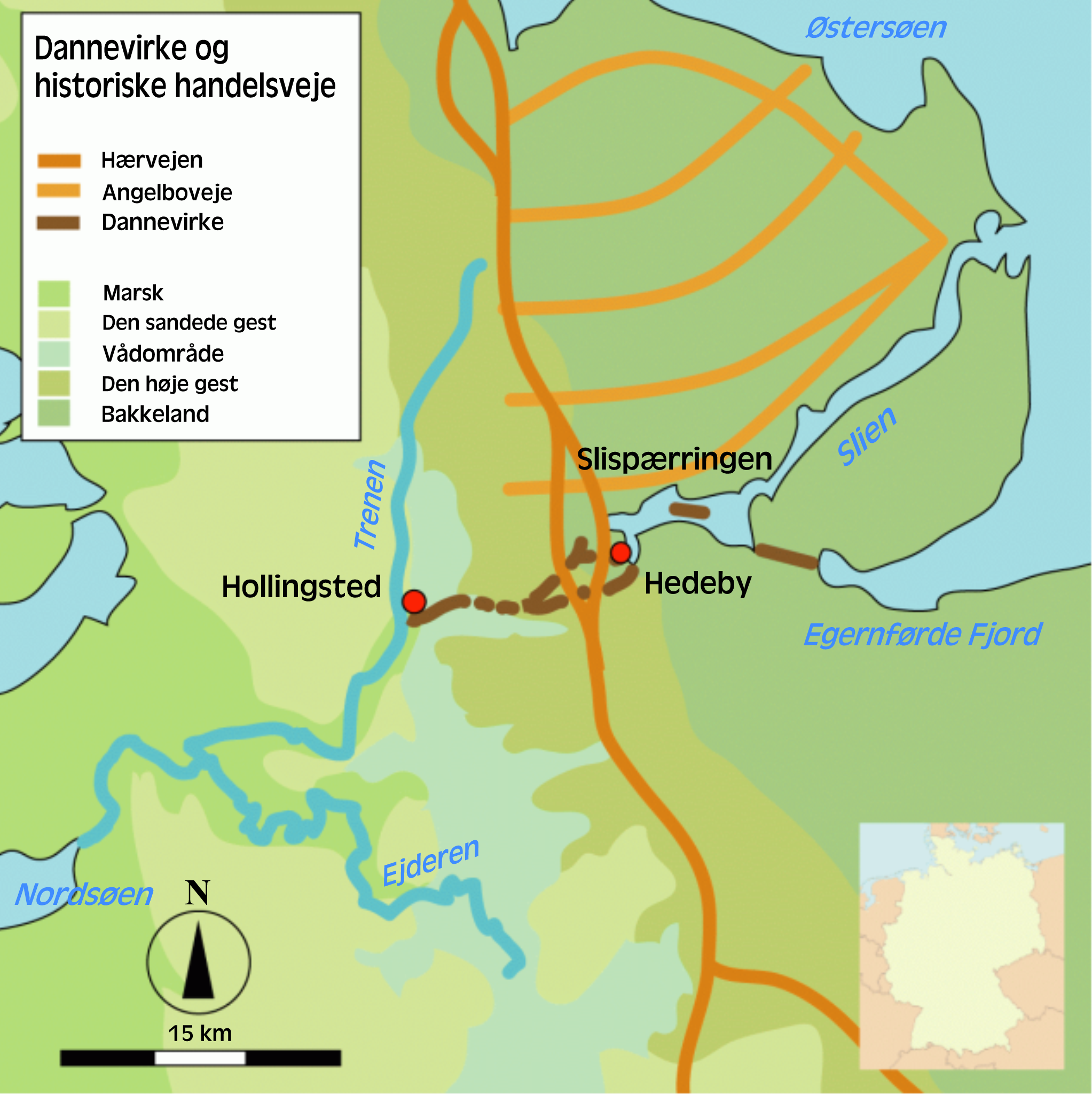 Location Of Hedeby In Denmarkmodern Germany Showing A Long - Sweden map hedestad